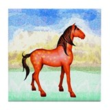 Spanish Mustang Tile Coaster