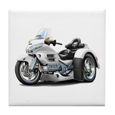 Goldwing White Trike Tile Coaster