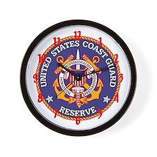 """""""Coast Guard Reserve"""" Wall Clock"""