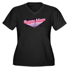 Unique Mom to three boys Women's Plus Size V-Neck Dark T-Shirt