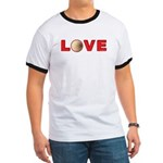 Volleyball Love 3 Ringer T