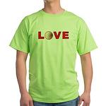 Volleyball Love 3 Green T-Shirt