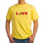 Volleyball Love 3 Yellow T-Shirt