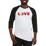 Volleyball Love 3 Baseball Jersey