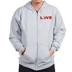 Volleyball Love 3 Zip Hoodie