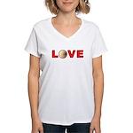 Volleyball Love 3 Women's V-Neck T-Shirt