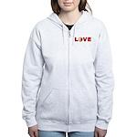 Volleyball Love 3 Women's Zip Hoodie
