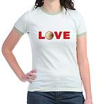 Volleyball Love 3 Jr. Ringer T-Shirt