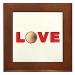 Volleyball Love 3 Framed Tile