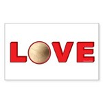 Volleyball Love 3 Sticker (Rectangle 10 pk)