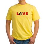 Darts Love 4 Yellow T-Shirt