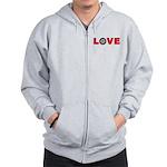 Darts Love 4 Zip Hoodie