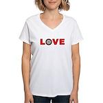 Darts Love 4 Women's V-Neck T-Shirt