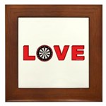 Darts Love 4 Framed Tile