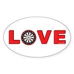 Darts Love 4 Sticker (Oval 50 pk)