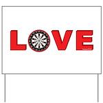 Darts Love 4 Yard Sign