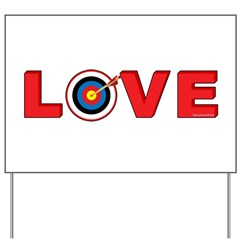 Archery Love 4 Yard Sign