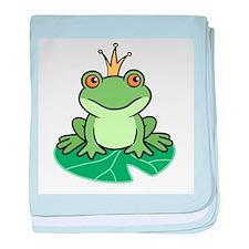 Frog Prince baby blanket