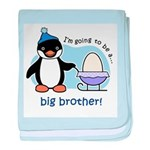 Big Brother to be (Penguin) baby blanket