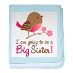 Big Sister to be - Mod Bird baby blanket