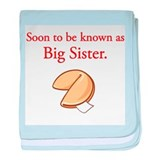 Big Sister - Fortune Cookie baby blanket