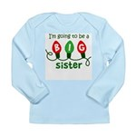 Big Sister Christmas lights Long Sleeve Infant T-S
