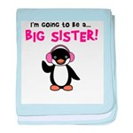 Big Sister to be - Penguin baby blanket