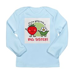 Big Sister to be (Strawberry) Long Sleeve Infant T