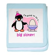 Big Sister to be (Penguin) baby blanket