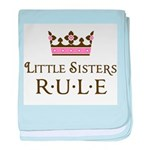 Little Sisters Rule baby blanket