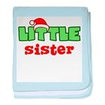 Little Sister - Christmas baby blanket