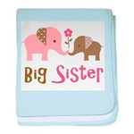 Big Sister - Mod Elephant baby blanket