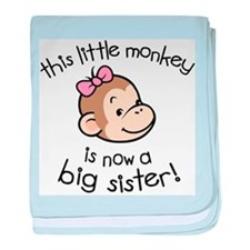 Big Sister - Monkey Face baby blanket