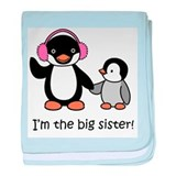 Big Sister - Penguin baby blanket