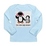 Big Sister - Penguin Long Sleeve Infant T-Shirt