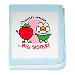 Big Sister - Strawberry baby blanket