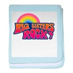 Big Sisters Rock! baby blanket