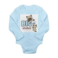 Big Sister (Kitty) Long Sleeve Infant Bodysuit