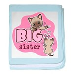 Big Sister - Kitty baby blanket