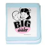 Big Sister - Retro Black baby blanket