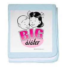 Big Sister - Retro Pink baby blanket