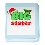 Big Sister - Christmas baby blanket