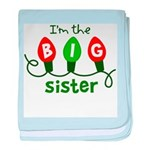 Big Sister Christmas lights baby blanket