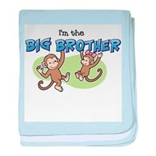 Big Brother - Monkey baby blanket
