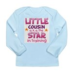 Little Cousin - Star (Pink) Long Sleeve Infant T-S