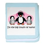 Big Cousin of Twins (Penguin) baby blanket