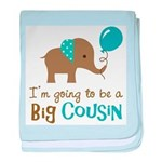 Big Cousin to be - Elephant baby blanket