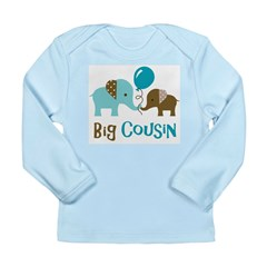 Big Cousin - Elephant Long Sleeve Infant T-Shirt