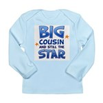 Big Cousin - Star (Blue) Long Sleeve Infant T-Shir