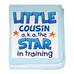 Little Cousin - Star (Blue) baby blanket